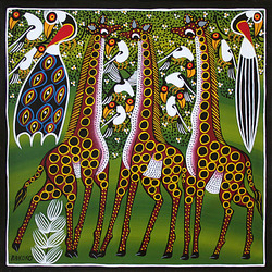 Jigsaw puzzle: Three giraffes