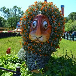 Jigsaw puzzle: Flower lion
