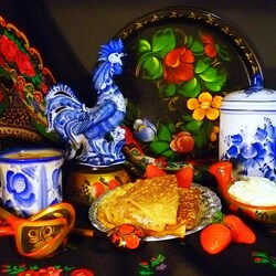 Jigsaw puzzle: Still life with pancakes