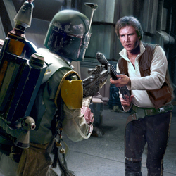 Jigsaw puzzle: Han Solo and Boba Fett