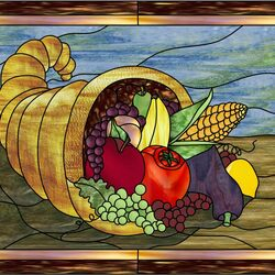 Jigsaw puzzle: Cornucopia stained glass