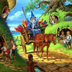 Jigsaw puzzle: Gandalf's Arrival at the Shire