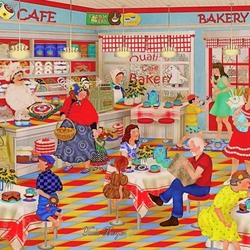 Jigsaw puzzle: In the cafe