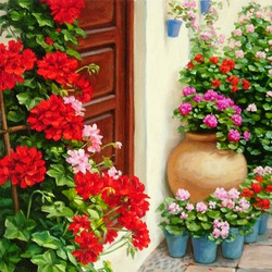 Jigsaw puzzle: Geranium at the door