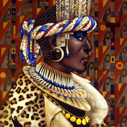 Jigsaw puzzle: African woman