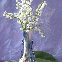 Jigsaw puzzle: Bouquet in mother-of-pearl