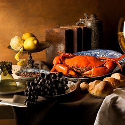 Jigsaw puzzle: Still life with crab