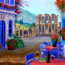 Jigsaw puzzle: Beautiful houses and ancient ruins