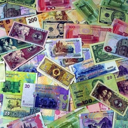 Jigsaw puzzle: World currencies
