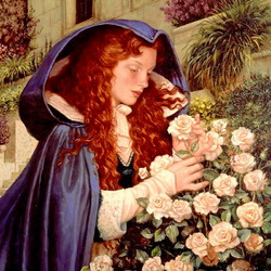 Jigsaw puzzle: Girl with roses