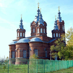 Jigsaw puzzle: Church of the Archangel Michael in the village of Mordovo