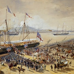 Jigsaw puzzle: Arrival of Queen Victoria to France