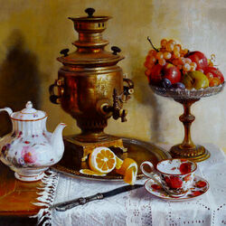 Jigsaw puzzle: Still life with samovar