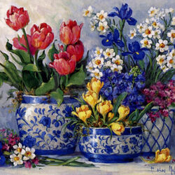 Jigsaw puzzle: Spring bouquets