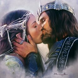 Jigsaw puzzle: Arwen and Aragorn