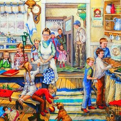 Jigsaw puzzle: Home from school