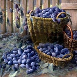 Jigsaw puzzle: Harvest plums
