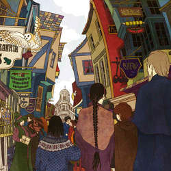 Jigsaw puzzle: Diagon Alley