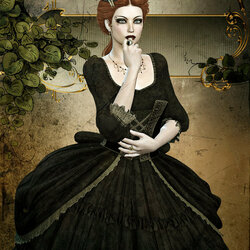 Jigsaw puzzle: Portrait of a gothic beauty
