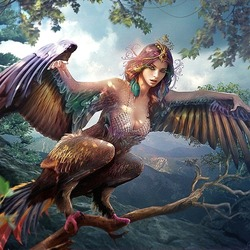 Jigsaw puzzle: Slavic mythology: bird Sirin