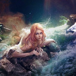 Jigsaw puzzle: Slavic mythology: mermaid