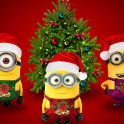 Jigsaw puzzle: New Year minions