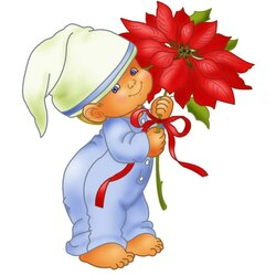 Jigsaw puzzle: Kid and flower