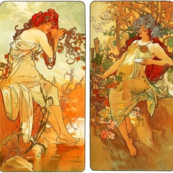 Jigsaw puzzle: Goddesses of the seasons