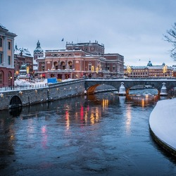 Jigsaw puzzle: Winter in Stockholm