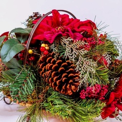 Jigsaw puzzle: Christmas basket