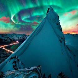 Jigsaw puzzle: Northern lights in Norway